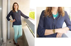 Isabel Silva - Primark Blouse, Sfera Pants, Casio Watch - In love with Blue