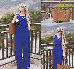 Olga Choi - Wal G Jumpsuit, Michael Kors Bag, Céline Sunglasses, Martofchina Necklace - Kelly