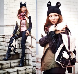 Lena Tsoon - Sheinside Parka, Chic Wish Backpack, Chic Wish Hat, Sheinside Sweater - Beautiful day