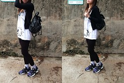 Steffi - Reebok Sneakers, 5 Preview Top - Black and White