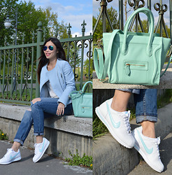 Cassandra Y. Liu - Oasap Mint Bag, Nike Sneakers - Casual baby blue + mint