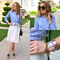 Coco Bolinho - Milla By Trendyol Skirt, Kate Spade Sneakers, Michael Kors Bag, Dkny Watch, Juicy Couture Bracelet, Bcbg Affirmation, Zerouv Sunnies, Colins Shirt - EASY COME, EASY GO!