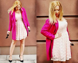 Lookbooky PINGER.pl - Coat, Dress - Rose & dust