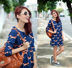 Glena Martins - Oasap Dress, Keds Polka Dots Tenis, Zerouv Sunnies - Sweet Foxes and Keds