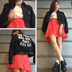 Chiro ♡ -  - Vivid pink and Denim Jacket
