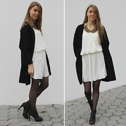 Gintare Hermanaviciute - Zara Coat, Zara Silk Dress - Cloudy with a chance of meatballs...