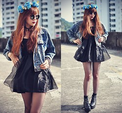 Tess Lively - Chic Wish Little Black Dress, Oasap Denim Jacket - These Are The Love That You Made