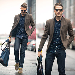 Adam Gallagher - Shirt, Sunnies, Similar Here  > Bag - Petrichor