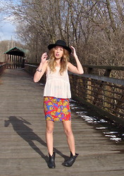 Anna Schowe - Free People Top, Topshop Skirt, Target Boots, H&M Hat - Mixed Signals