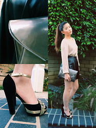 Shana Wang - Neil Barrett Leather Skirt, Smythson Wallet - Here we go again