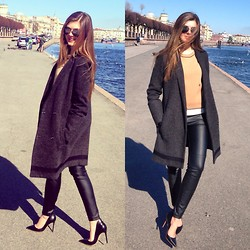 Stacey A. - Proenza Schouler Coat, Sergio Rossi Shoes - Spring in St. Petersburg