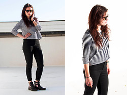 Aline M. - Secondhand Shop Amsterdam Glasses, Zara Shirt, Topshop Pants, Camden Market London Cut Out Boots - Full Circle