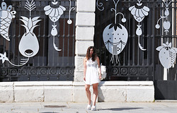 Dasha Farsh - Grafea Rucksak, Bershka Dress, Jeffrey Campbell Heels - Zephyr