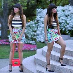 Alyssa Magallanes - Valentino Glasses, Jealous Tomato Dress, H&M Red Purse, Forever 21 Shoes - Electric Feel.