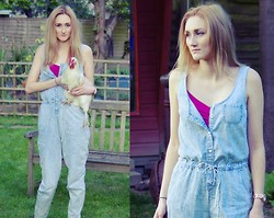 Meet Me In Mayfair - Miss Selfridge Denim Jumpsuit, M&M Camisol, Michael Kors Rose Gold Watch - Easter chic