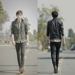 Eric Jess - Topman Spray On Skinny, All Saints Kushiro Jacket - 420 Bunny