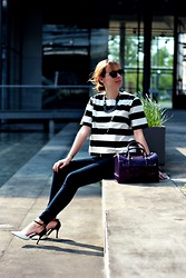 SecretFashion Love - H&M Striped Shirt, J Brand Jeans, Tamaris Heels, Furla Candy Bag - DÉJÀ-VU