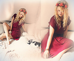 Tess Kay - Gina Tricot Dress, Diy Flowercrown - The love inside