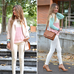 Helena Cueva - Sheinside Coat, Choies Sweater, Primark Handbag, Zara Heels - 3 COLORS
