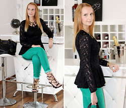 Sabrina K. - Oasap Lace Blouse, Osap Heels - Nothing left that you can say!