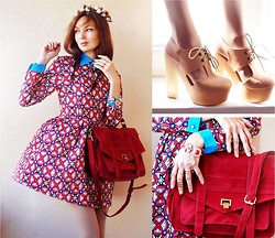 Lena Tsoon - Cult Gaia Flower Crown, Persun Bag, Envi Shoes Shoos, Persun Bracelet, Romwe Rings - Favorite dress