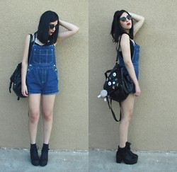 Tatiana Christine - Thrifted Shortalls, Forever 21 Boots - Denim.