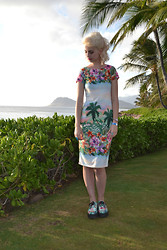 Flower Perdew - Karma Clothing Floral Dress, T.U.K. Floral Creepers - I a Leeky Likey You
