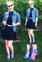 Amy Erdbeer - Jeffrey Campbell Galaxy Litas, Levi's® Denim Jacket, Primark High Waisted Skirt - Nobody's gonna slow me down