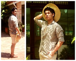 Michael Primacio - Burberry Button  Down, Folded And Hung Khaki Shorts - When I met you in Summer