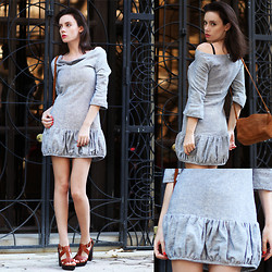 Anastasia Gelfman Silis - Let Them Stare Dress, Zara Bag - I'm flirting with denim  ♥