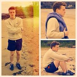 Euan McLaren - Nike Golfing Jumper, Jack Wills Navy Trunks, Adidas Blue Trainers - The parting glass