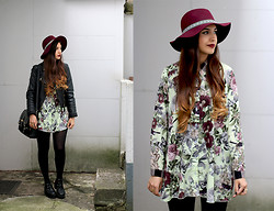 Leticia Neidl - H&M Hat, In Love With Fashion Blouse, Zara Jacket, Romwe Boots - Fantasy.