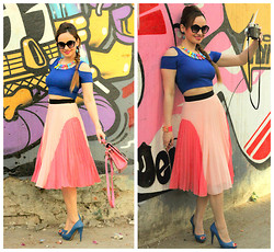 Stephanie Timmins - Forever 21 Crop Top, River Island Pleated Skirt, Zara Shoes - Going Retro in Spring !