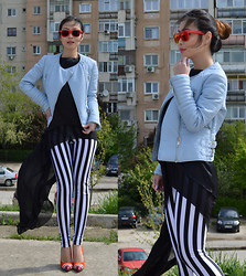 Cassandra Y. Liu - Romwe Legging, Martofchina Spikes Pumps, Romwe Flowly Top - Chic and Sophisticated