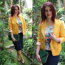 Rebel Takipte - Oasap Colourful Top, Tb Dress Yellow Blazer - Colourful Spring