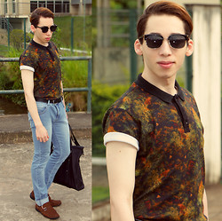 Douglas Brandão - Auslander Floral Polo, Sommer Jeans, Ferracini Brown Driving Shoes - I live in a fantasy world.