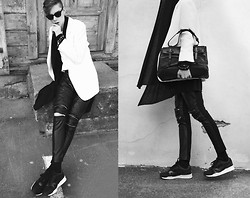 Mikko Puttonen - Jewelry, Puma Sneakers, Bag, Jacket, Leather Pants - Lifeblood