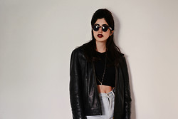 Iliana K. - Wholesale Celebshades Shades, Thrift Store Leather, Topshop Cropped, Levi's® Shorts - Narcotic