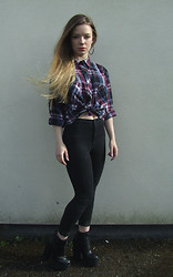 Jade Anne - Urban Outfitters Shirt, Topshop Jeans, New Look Boots - Only evidence that you'd been here before