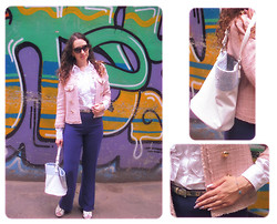 Labriosa - Marella Blouse, Anna Rita N Pants, Scervino Street Bag, Marzetti Shoes, River Island Cardigan, Prada Sunglasses, Reserved Belt - Business chic