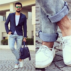 Kubilay Sakarya - H&M, H&M Jeans, Zara Bag, Asos Shoes - Blue White