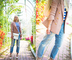 Olga Choi - Kpopsicle Blazer, 8 Seconds Jeans, Ralph Lauren Top, Choies Bag, Oasap Heels - Old Navy