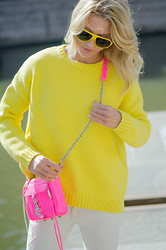 Malin Lagerqvist - Zara Knitted Sweater And Jeans, Rebecca Minkoff Bag - Sunshine State