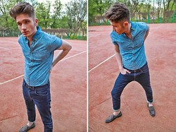 Mazhuga Dmitry - Burton Menswear Shirt, Wrangler Jeans, Shoes - Wrangler one love