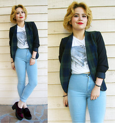 Allison K - American Apparel Easy Jean, H&M Blazer - 100% Lazy