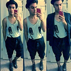 Raul Cintron - Dkny Hat, H&M Tank Top, Calvin Klein Black Blazer, Bass Ankle Boots - Never say never...