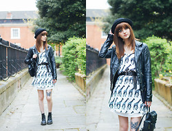 Elizabeth Gracie - Lavish Alice Dress, Zara Jacket, Urban Outfitters Hat, Topshop Bag - Lavish Alice