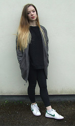 Jade Anne - River Island Jumper, New Lokk Coat, Topshop Jeans, Nike Trainers - Gravity's weaker when you're near, my dear