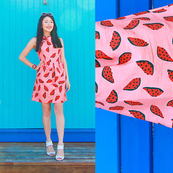 Connie Cao - Gorman Melon Dress - Melon