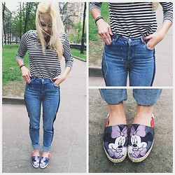 Five2ten.o'clock - Topshop Jeans, Zara Top, Eleven Paris Shoes - Minnie Mouse's look
